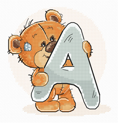Cross stitch kit Letter A - Luca-S