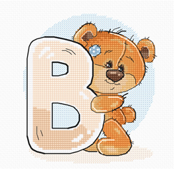 Cross stitch kit Letter B - Luca-S