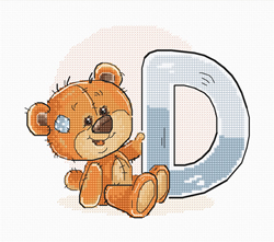 Cross stitch kit Letter D - Luca-S