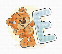 Cross stitch kit Letter E - Luca-S