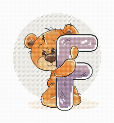 Cross stitch kit Letter F - Luca-S