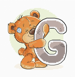 Cross stitch kit Letter G - Luca-S