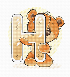 Cross stitch kit Letter H - Luca-S