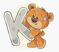 Cross stitch kit Letter K - Luca-S
