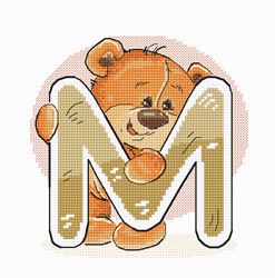 Cross stitch kit Letter M - Luca-S