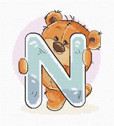 Borduurpakket Letter N - Luca-S