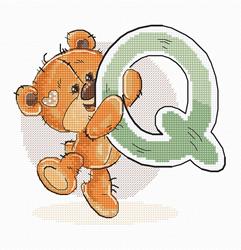 Cross stitch kit Letter Q - Luca-S