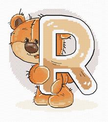 Cross stitch kit Letter R - Luca-S