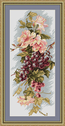 Cross Stitch Kit Composition with Grapes - Luca-S