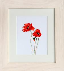 Borduurpakket Poppies - Luca-S