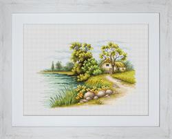 Borduurpakket Landscape with a Lake - Luca-S