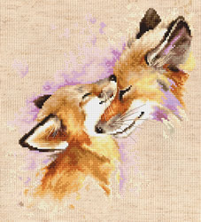 Cross stitch kit Foxes - Luca-S