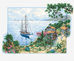 Cross stitch kit Seascape  - Luca-S