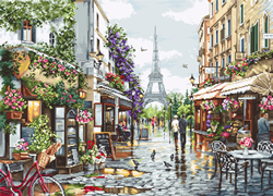 Cross stitch kit Paris in Flowers - Luca-S