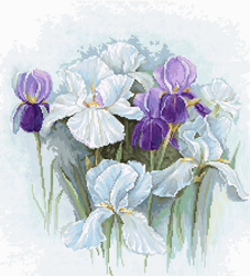Cross stitch kit Irises - Luca-S