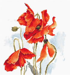 Cross stitch kit The Poppies - Luca-S