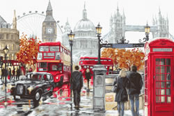 Cross stitch kit London - Luca-S