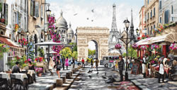Cross stitch kit Paris - Luca-S