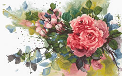 Cross stitch kit Red roses - Luca-S