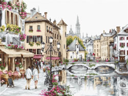 Cross stitch kit Lake Annecy - Luca-S