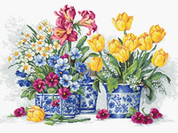 Cross stitch kit Spring garden - Luca-S