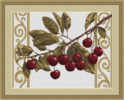 Borduurpakket Branch with cherries - Luca-S