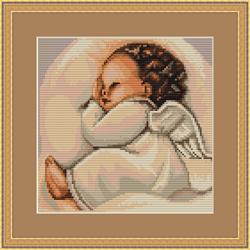 Cross Stitch Kit Sleeping Angel - Luca-S