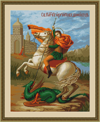 Cross Stitch Kit Saint George - Luca-S