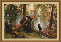 Cross Stitch Kit Morning in a Pine Forest - Luca-S