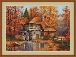 Cross Stitch Kit Autumn Landscape - Luca-S