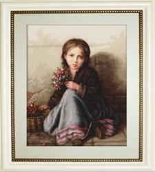 Cross Stitch Kit Portrait of Girl - Luca-S