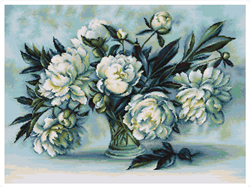 Cross Stitch Kit Peonies - Luca-S