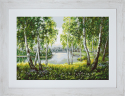Cross Stitch Kit Native Birches in the Light - Luca-S
