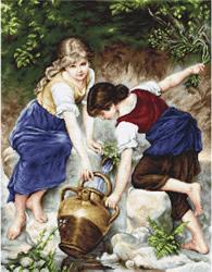 Borduurpakket At the Fountain - Luca-S