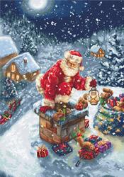 Cross stitch kit Santa Claus - Luca-S