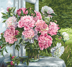 Borduurpakket Peonies by the Window - Luca-S