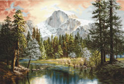 Cross stitch kit Nature's Wonderland - Luca-S