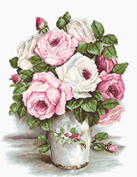 Cross stitch kit Mixed Roses - Luca-S