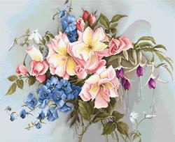 Borduurpakket Bouquet with Bells - Luca-S