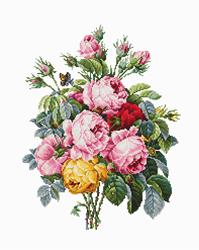 Cross stitch kit Roses - Luca-S