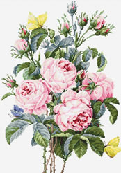 Cross stitch kit Bouquet of Roses - Luca-S