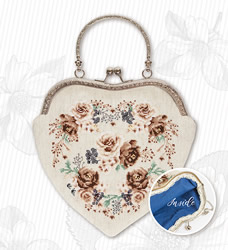 Borduurpakket Handbag Roses Brown - Luca-S