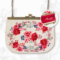 Borduurpakket Handbag Roses Red - Luca-S