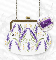 Borduurpakket Handbag Flowers (purple inside) - Luca-S