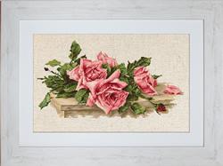 Cross Stitch Kit Pink Roses - Luca-S