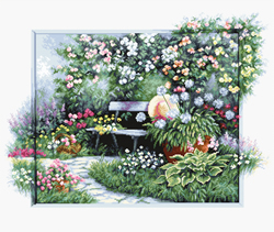 Cross stitch kit Blooming garden - Luca-S