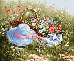 Borduurpakket Meadow with poppies - Luca-S