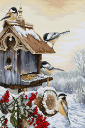 Cross stitch kit Bird House - Luca-S
