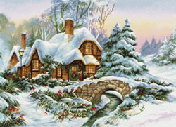 Cross stitch kit Winter Landscape - Luca-S