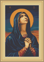 Petit Point Cross Stitch Kit Joy to All the Afflicted - Icon of the Mother of God - Luca-S